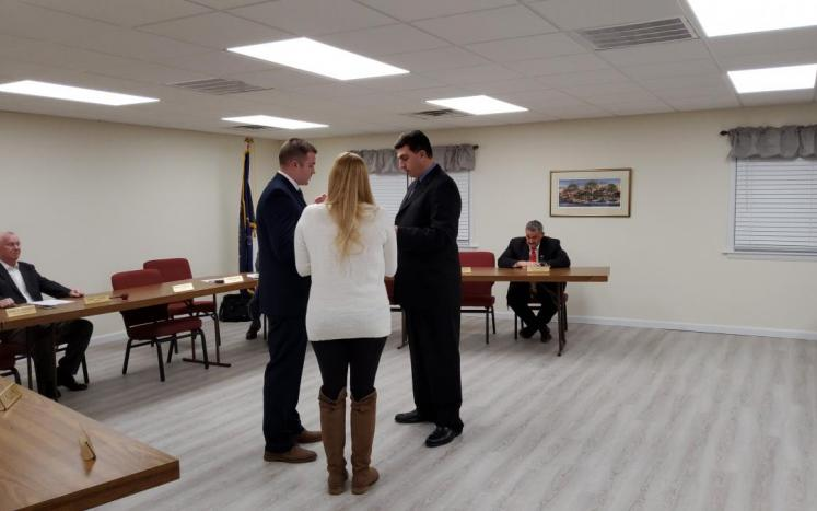 Swearing in of  new full time officer