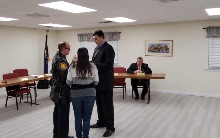 Swearing in of a new officer
